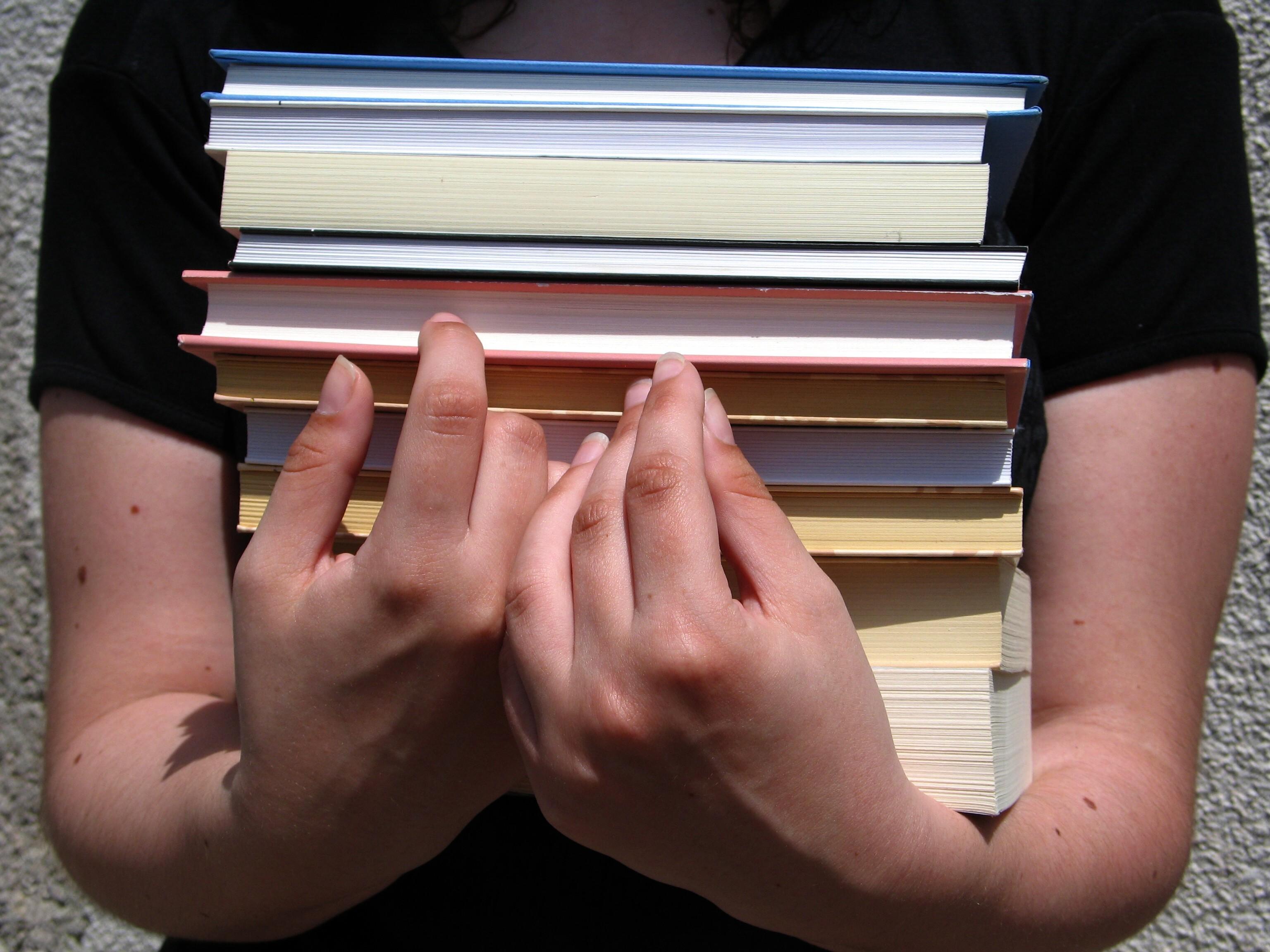 Bild mit vielen Büchern