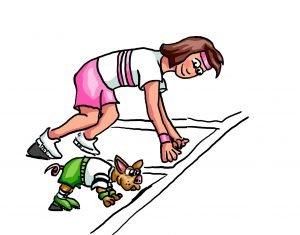 Bild von dir mit deinem inneren Schweinehund an der Startlinie