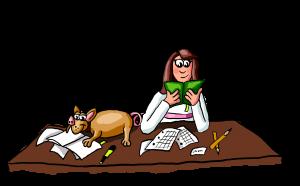 Bild von dir, wie du Spaß beim Lernen mit deinem Schweinehund hast