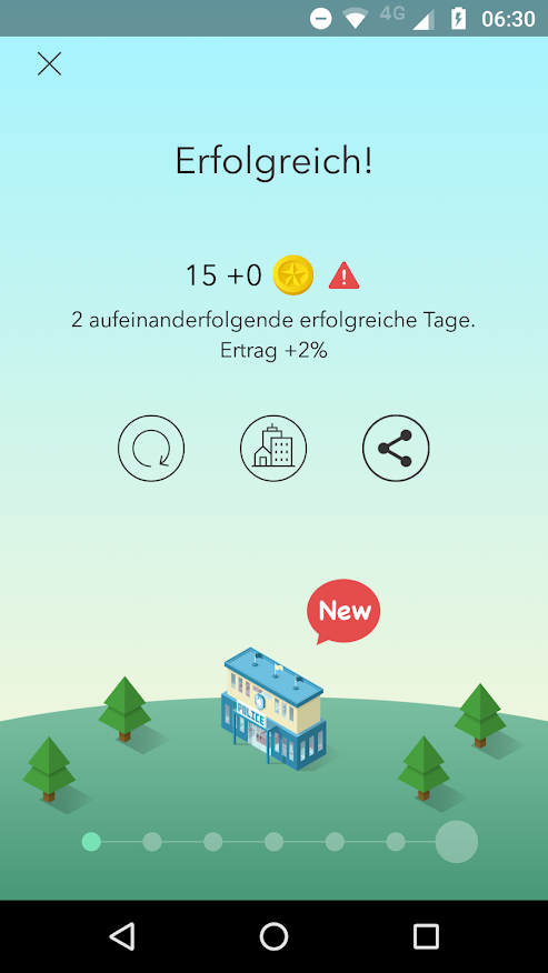 Screenshot von Erfolg in Sleep Town