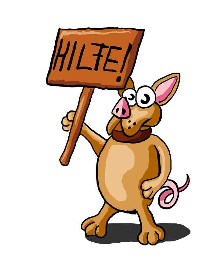Der Schweinehund braucht Hilfe beim Ziele setzen im Studium.