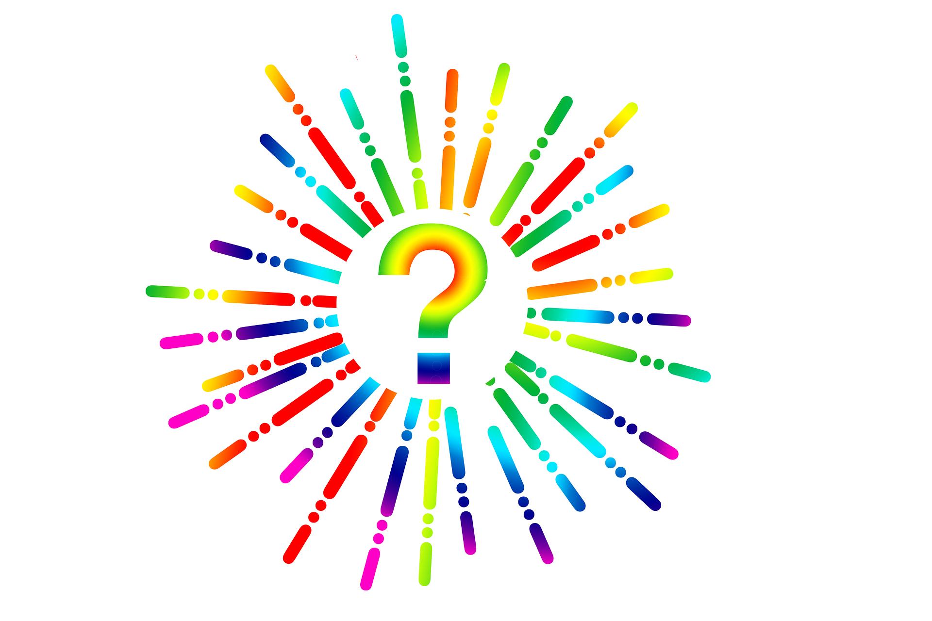 Symbolbild: Bunte Illustration eines Fragezeichens.