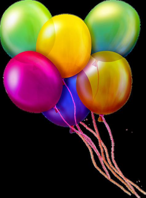 Luftballons zum 18. Geburtstag