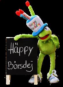 Kermit gratuliert zum 18. Geburtstag.