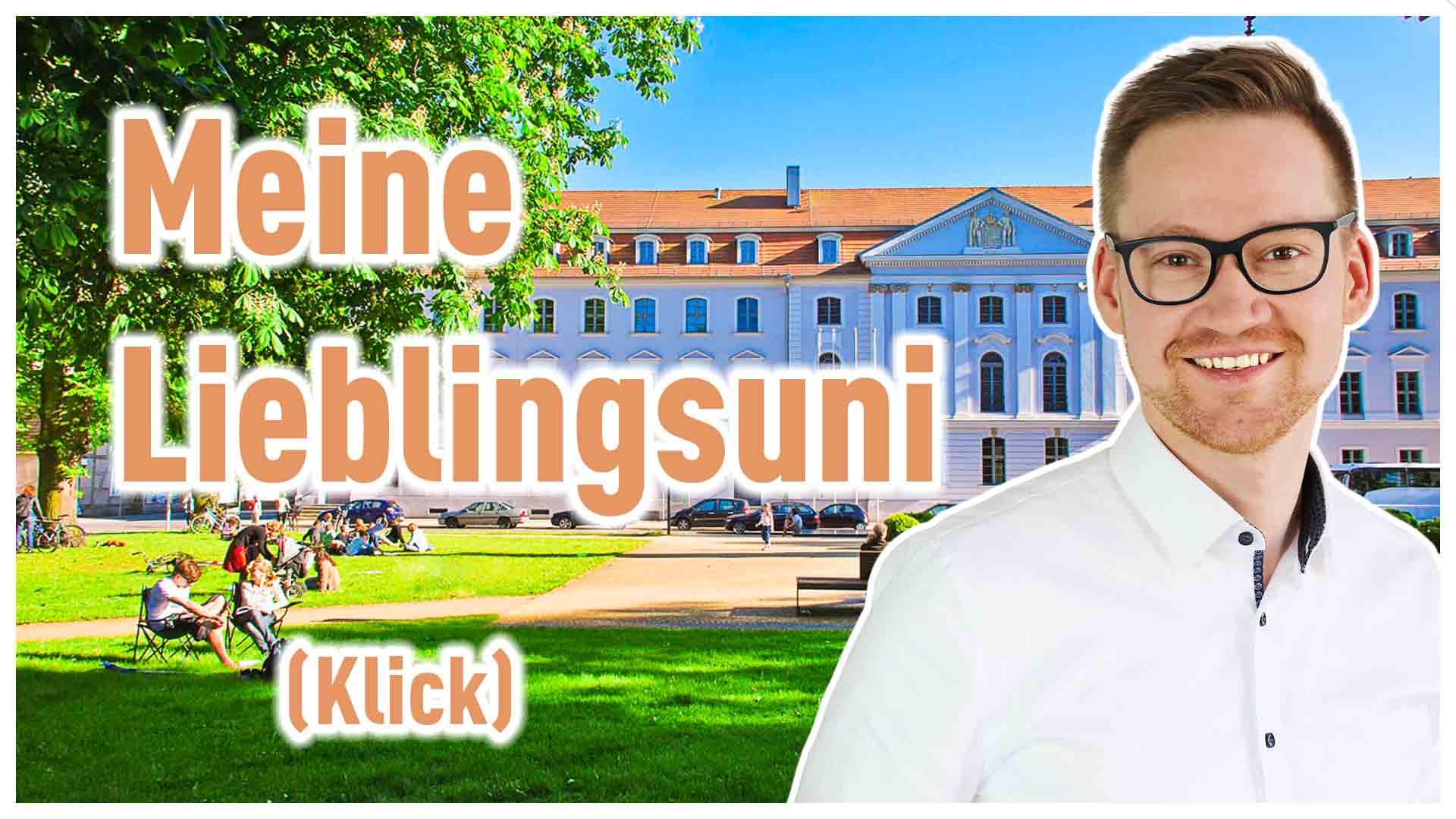"""Ein Bild der Uni mit der Aufschrift """"next big thing"""", deutsch """"das nächste große Ding"""". Finde heraus, welcher Studiengang zu dir passt!"""